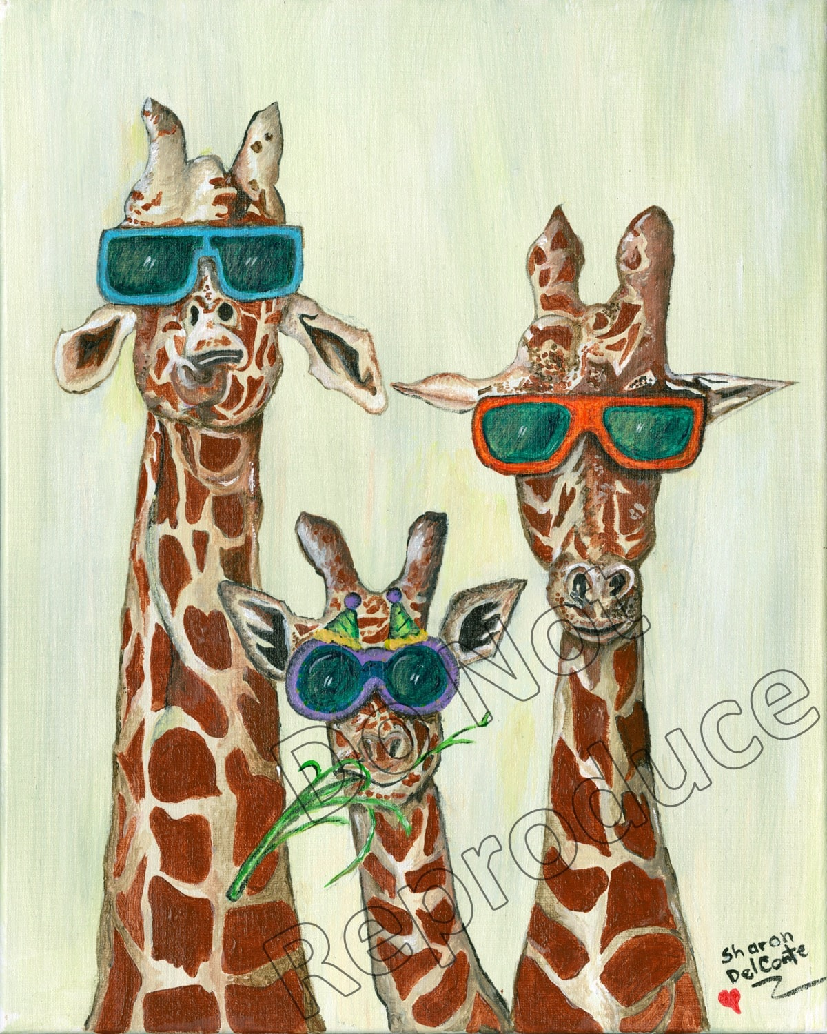Giraffes with Glasses